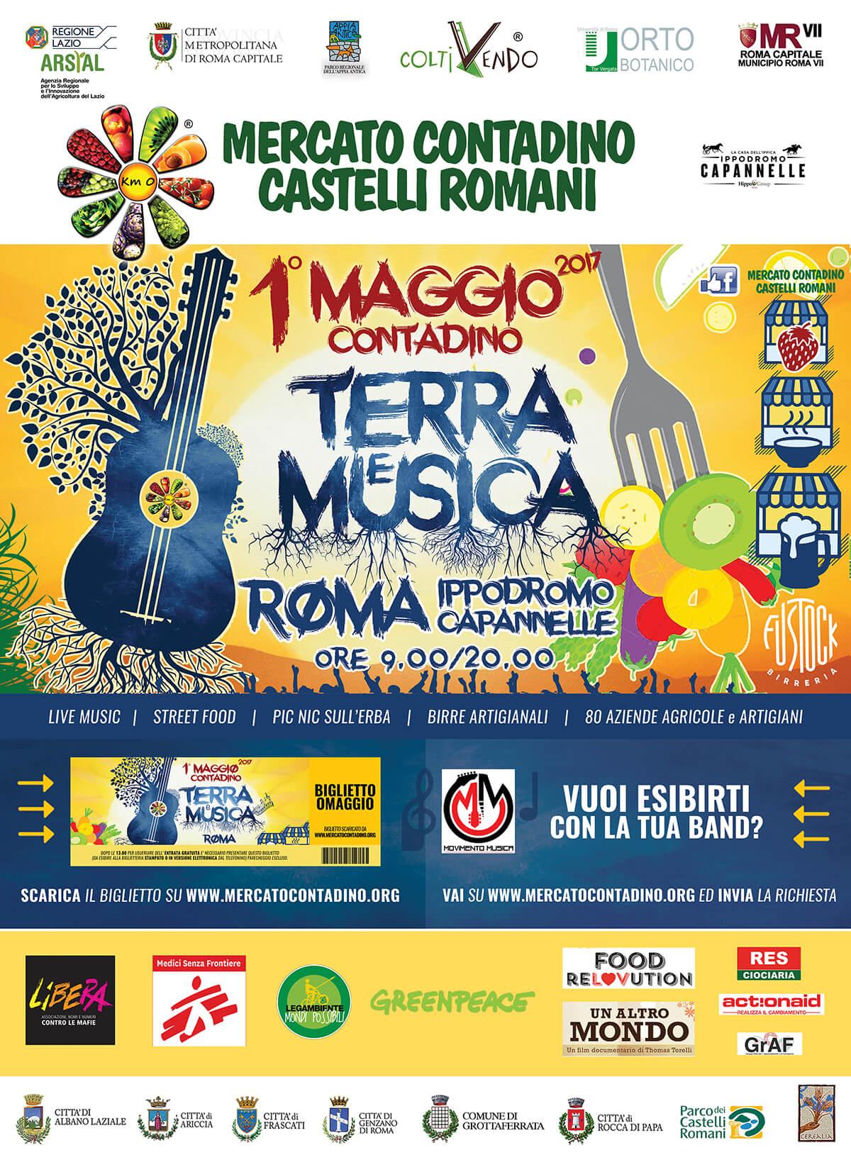 01 MAGGIO TERRA e MUSICA Festa del 1° maggio contadino