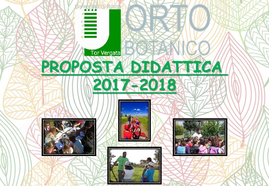 NUOVA OFFERTA DIDATTICA 2017-2018