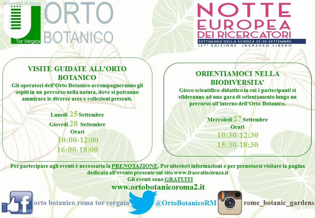 """L'Orto Botanico partecipa alla """"Settimana della Scienza"""""""