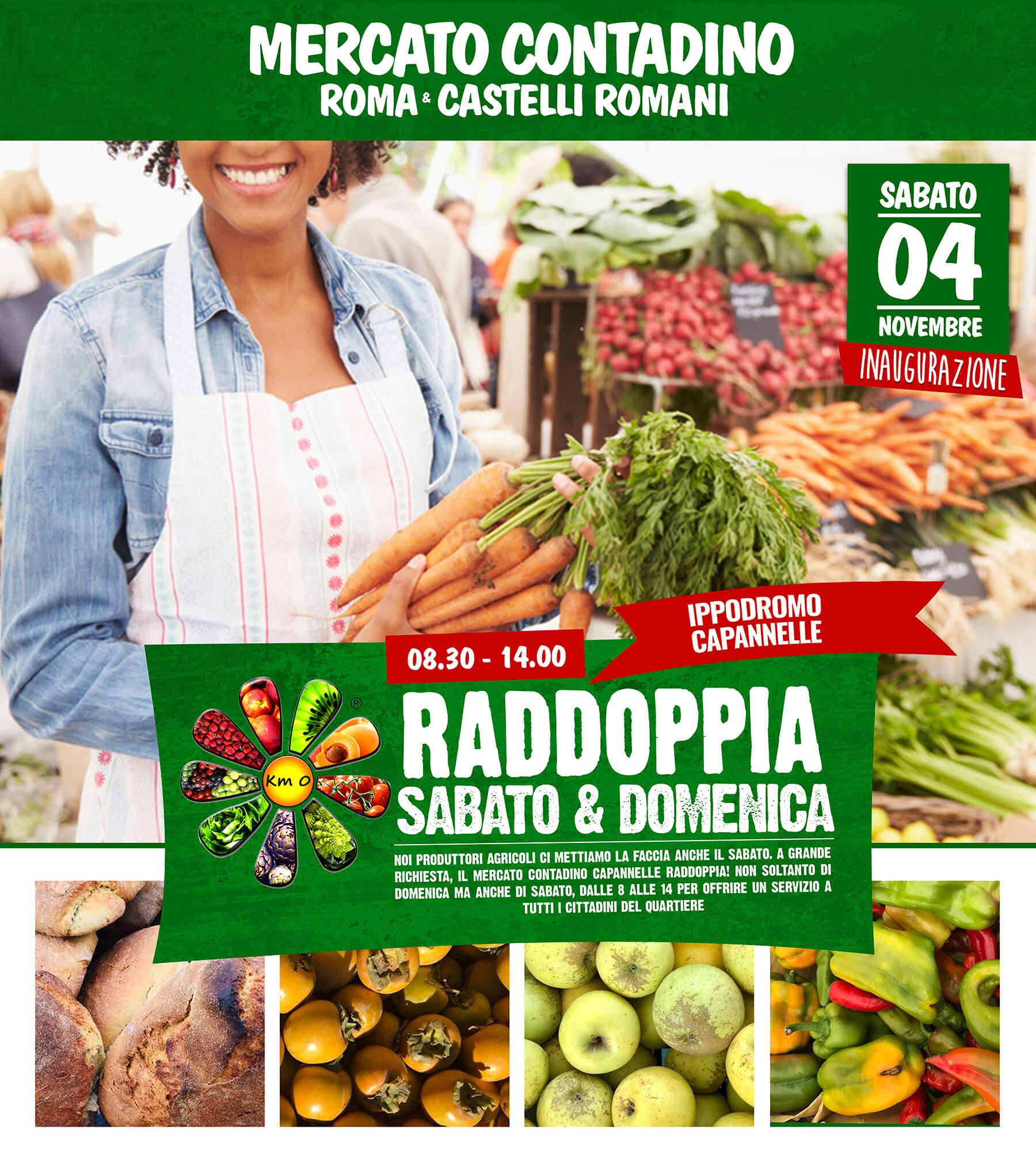 Il Mercato Contadino Roma Capannelle raddoppia! Anche di sabato!