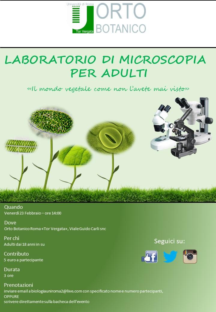Laboratorio di microscopia per adulti-POSTI ESAURITI