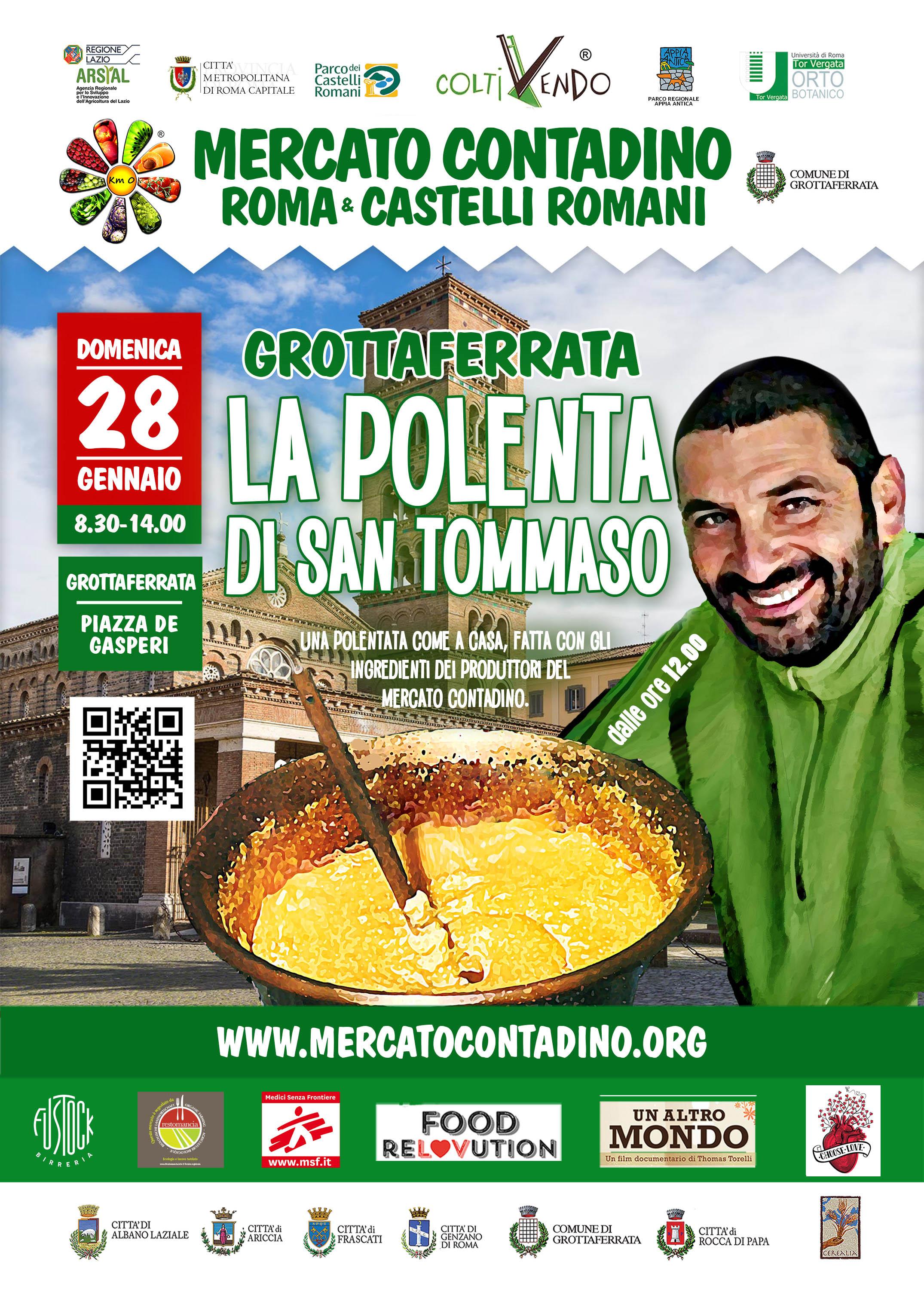 28 Gennaio La Polenta di San Tommaso a Grottaferrata