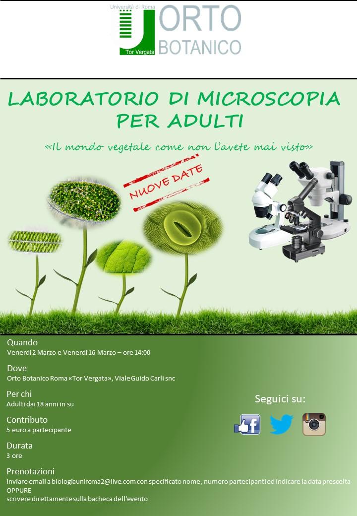 Laboratorio di Microscopia-Nuove Date