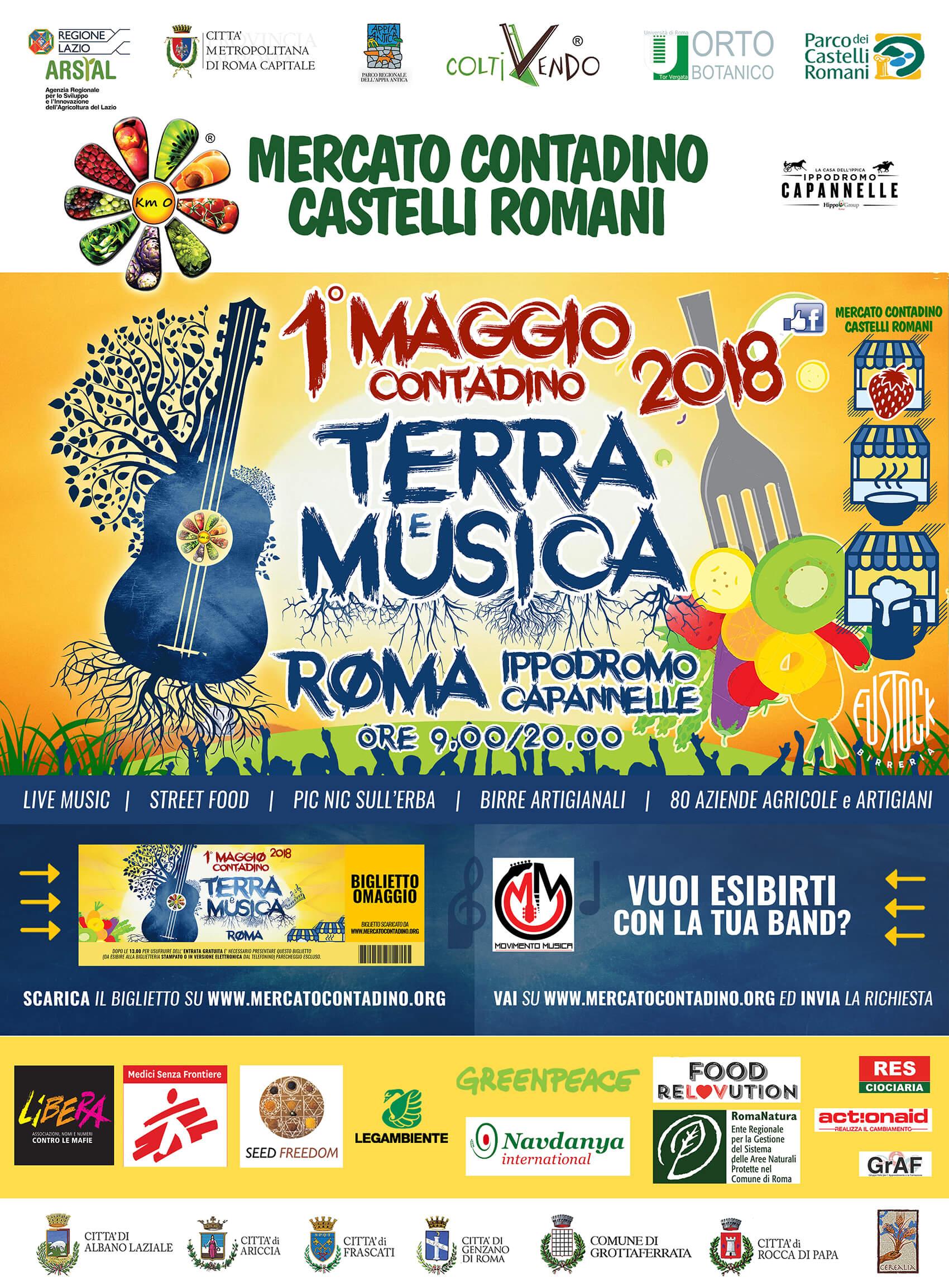 01 Maggio TERRA e MUSICA – Primo Maggio Contadino 2018
