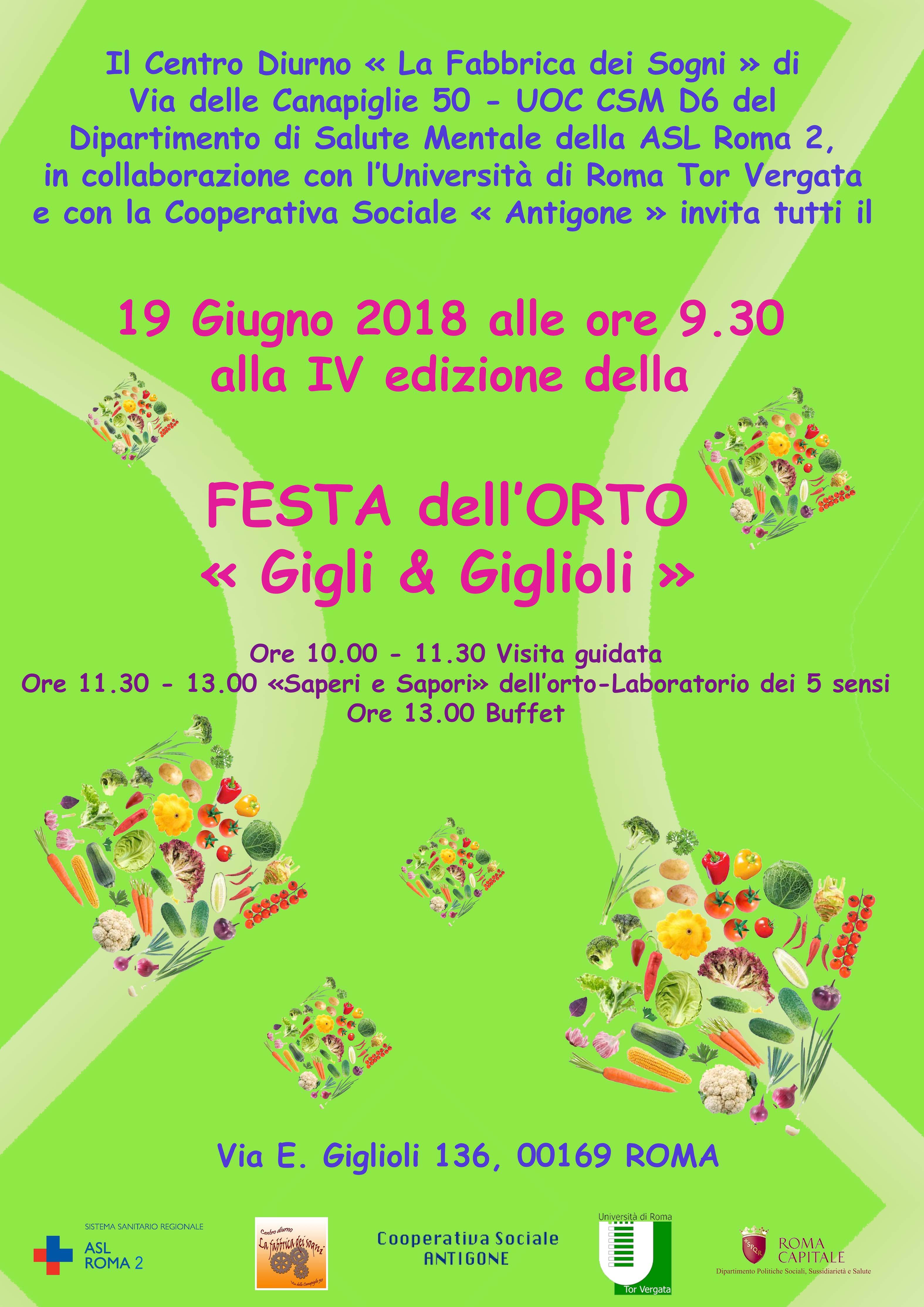 """19 Giugno IV Edizione Festa dell'Orto """"Gigli e Giglioli"""""""