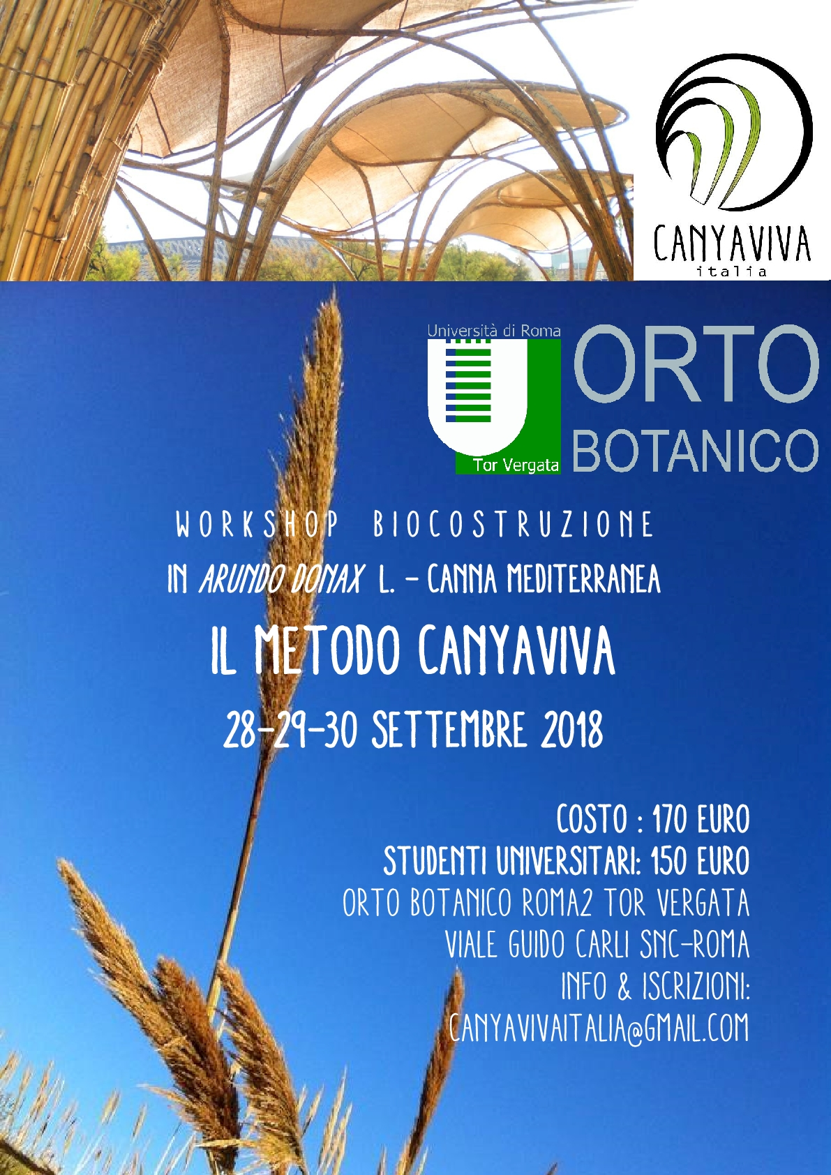 Workshop Biocostruzione in Arundo donax L.