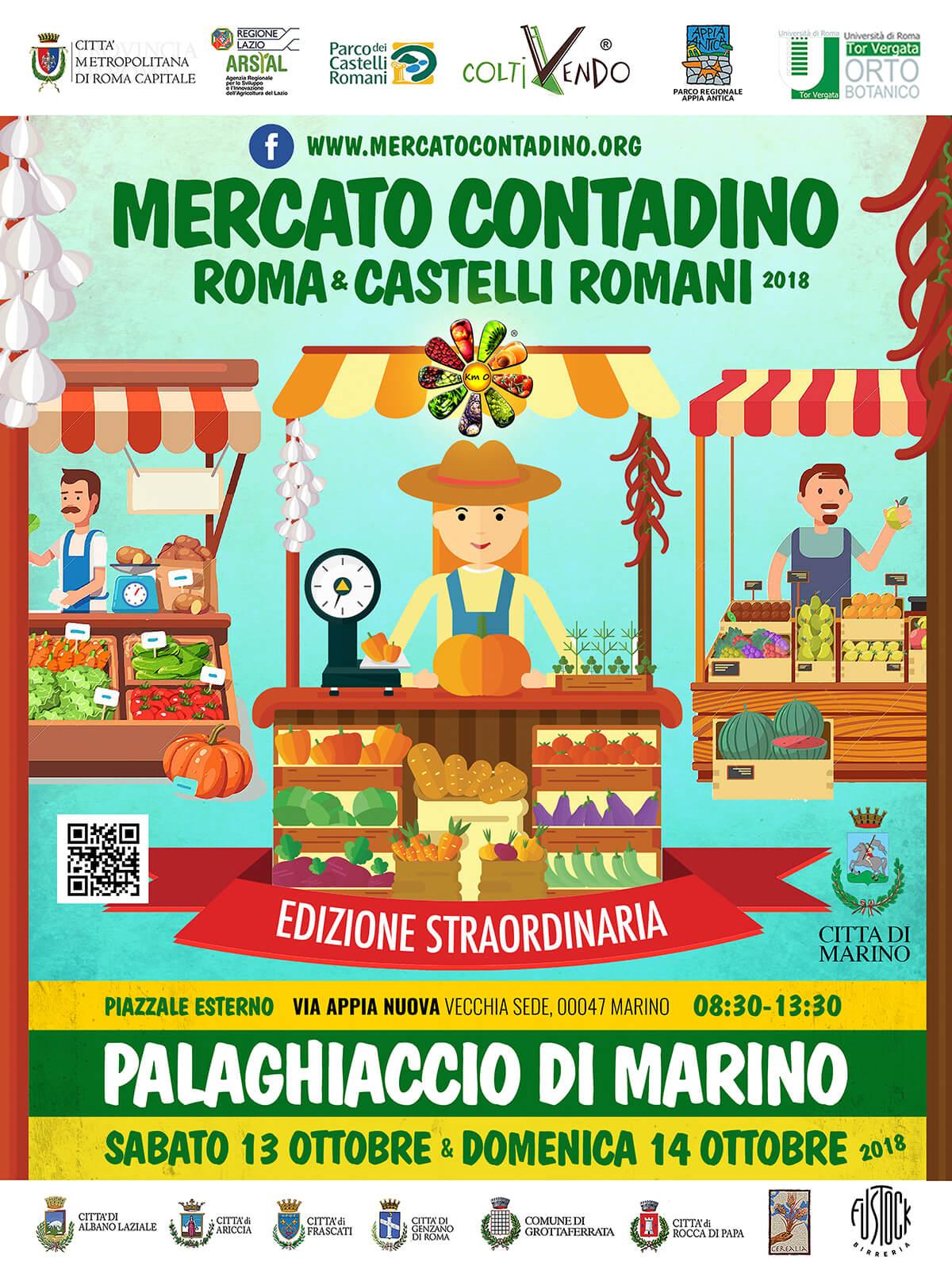 IL MERCATO CONTADINO SBARCA AL PALAGHIACCIO DI MARINO. 13 e 14 OTTOBRE 2018
