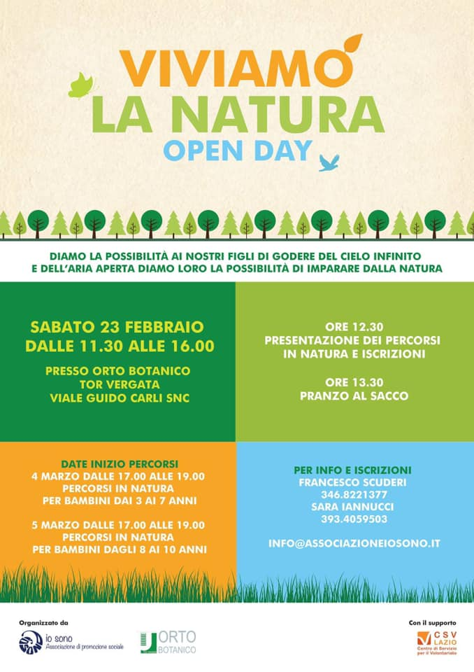 OPEN DAY percorsi in natura