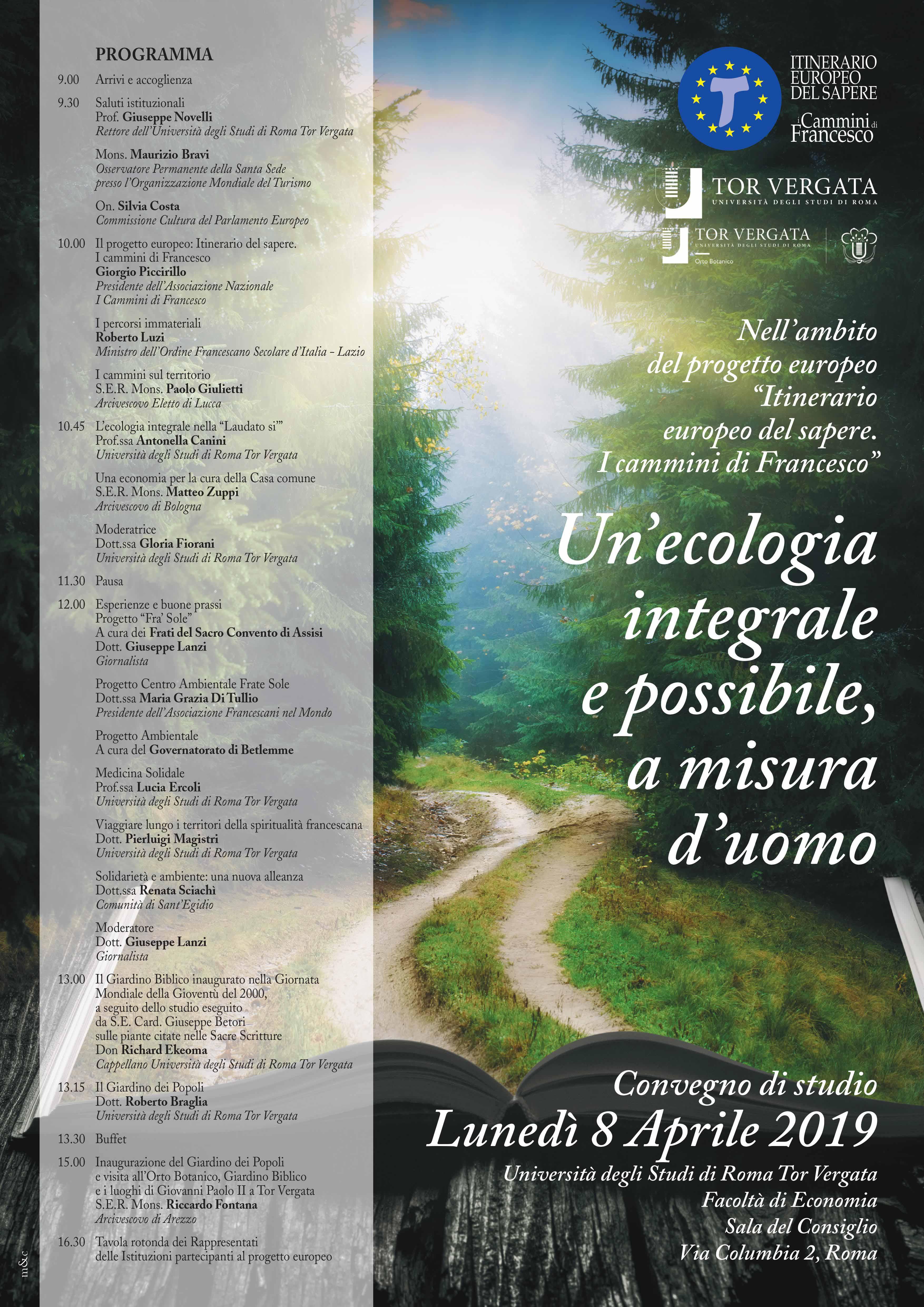 Convegno: un'ecologia integrale e possibile, a misura d'uomo
