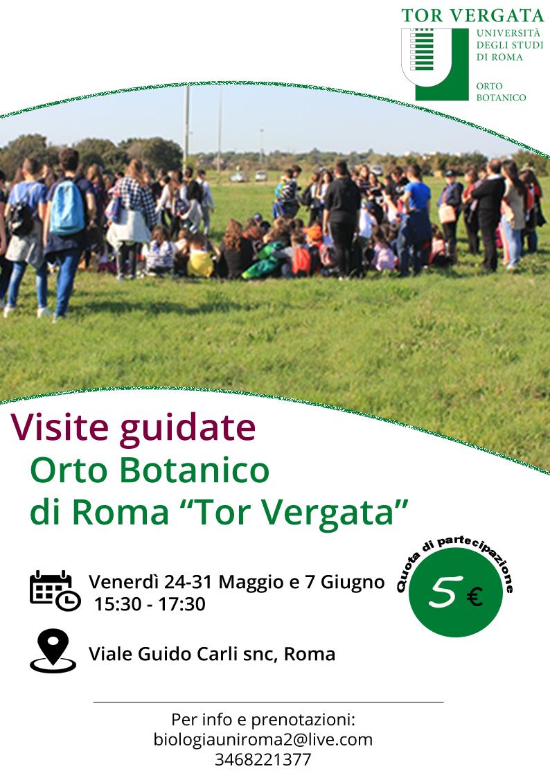 NUOVE DATE – Visite guidate Orto Botanico  24-31 Maggio e 7 Giugno