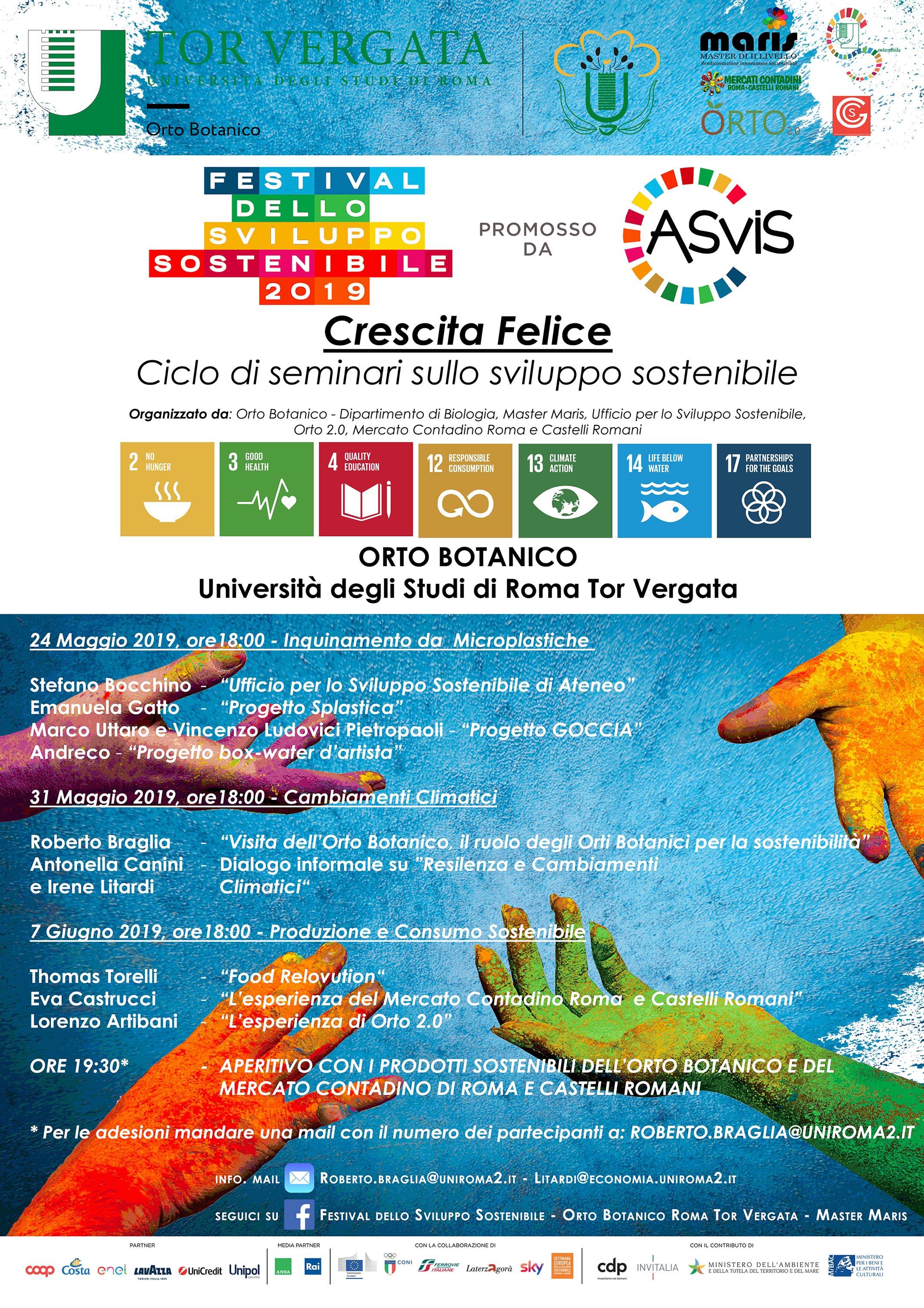 Crescita Felice – Ciclo di seminari sullo sviluppo sostenibile