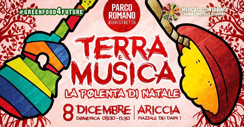 Terra, Musica e Polenta di Natale al via Parco Romano e Biodistretto