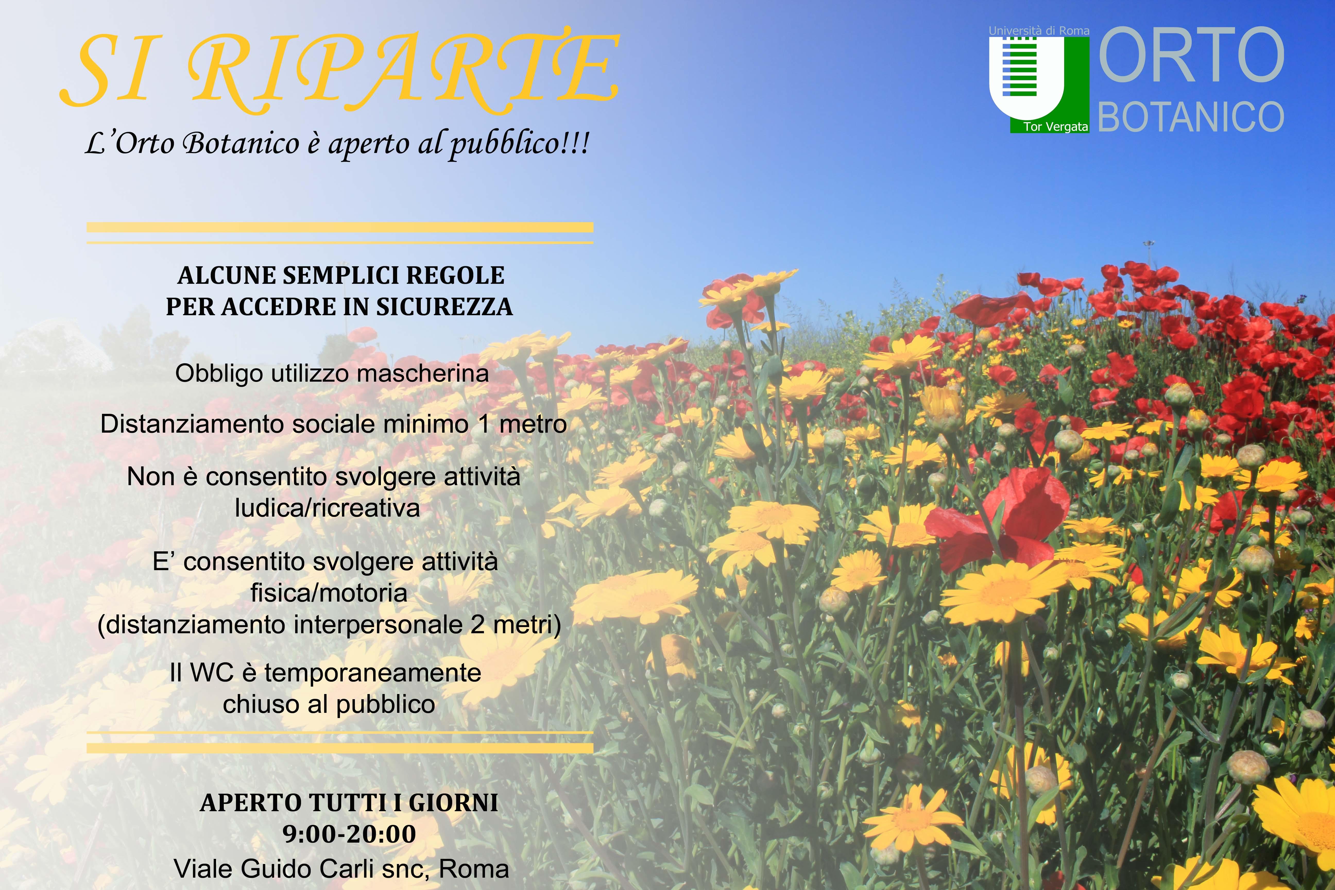 SI RIPARTE: l'Orto Botanico è aperto al pubblico!!!