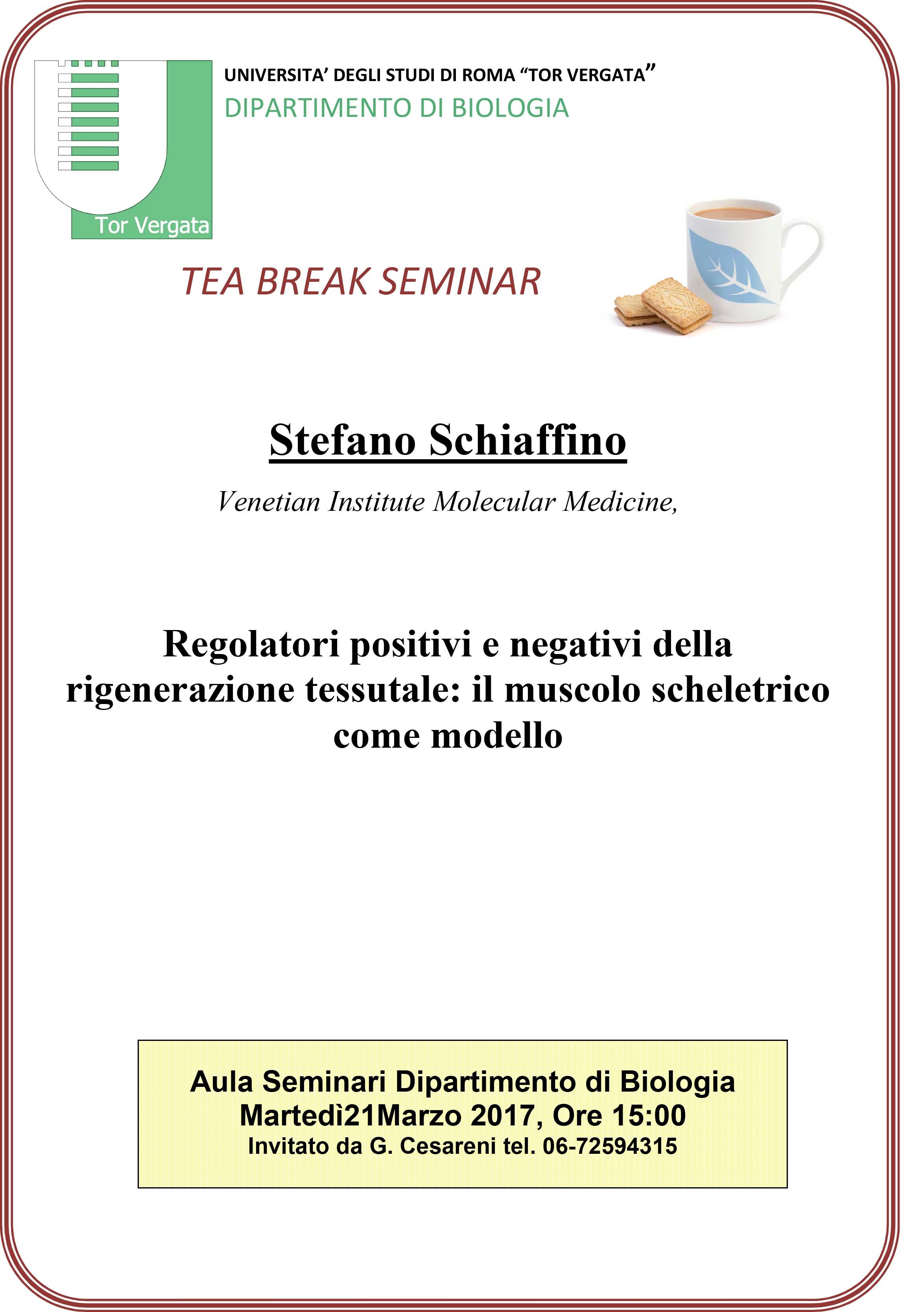 Avviso seminario: Regolatori positivi e negativi della rigenerazione tessutale: il muscolo scheletrico come modello