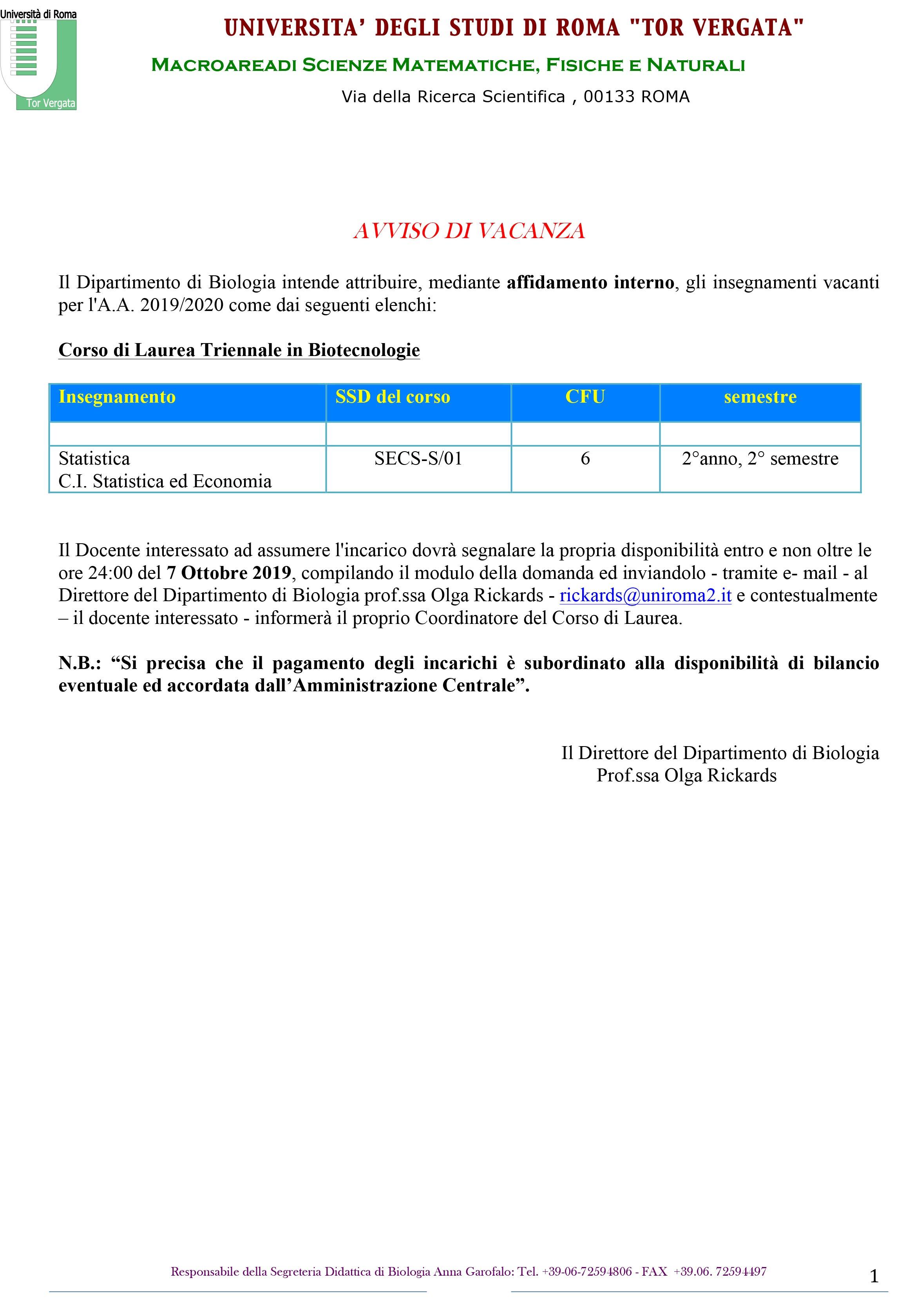 Microsoft Word - avviso vacanza biotecnologie.docx